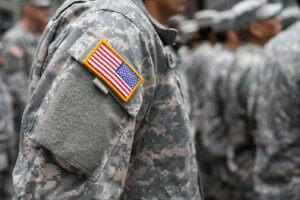 soldiers standing in uniform
