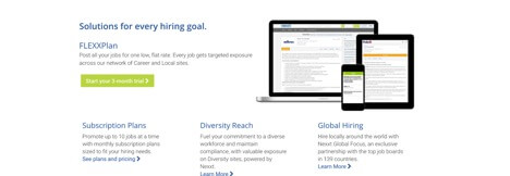 hiring goal solutions page