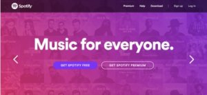 spotify CTA example
