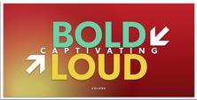 colorful bold loud logo