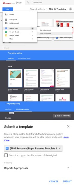 google template example