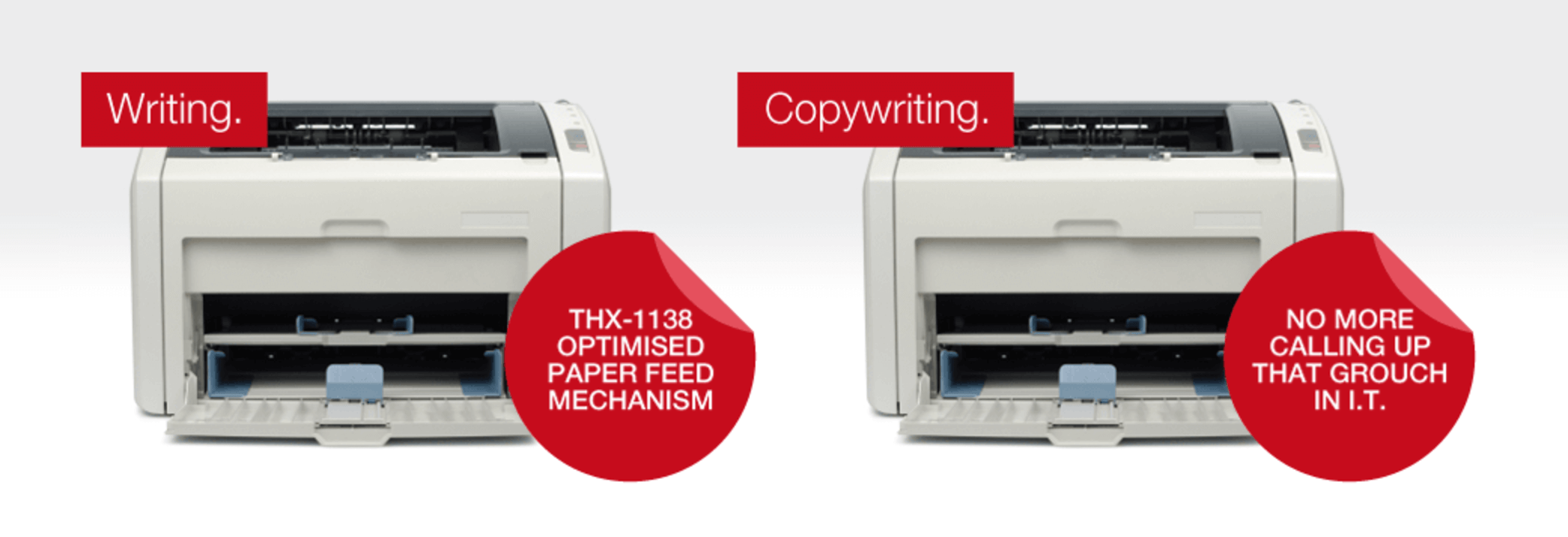 two printers with good examples of copywriting for blogging best practices
