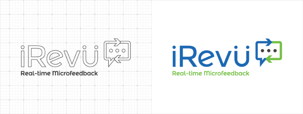 irevu real-time microfeedback logo sketch and final