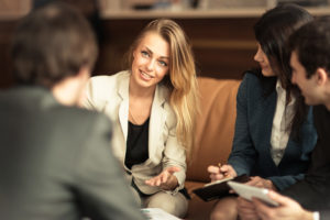 professional woman performance management discussion