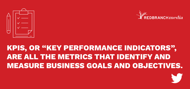 kpis are all the metrics that identify and measure business goals and objectives