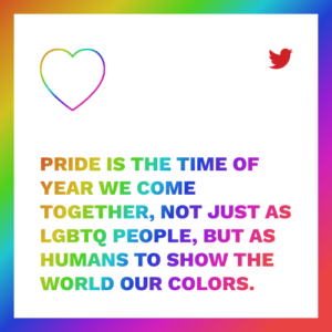 Pride is the time of year we come together as humans to show our colors