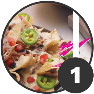 Section one of Qdoba Ad Design dissection