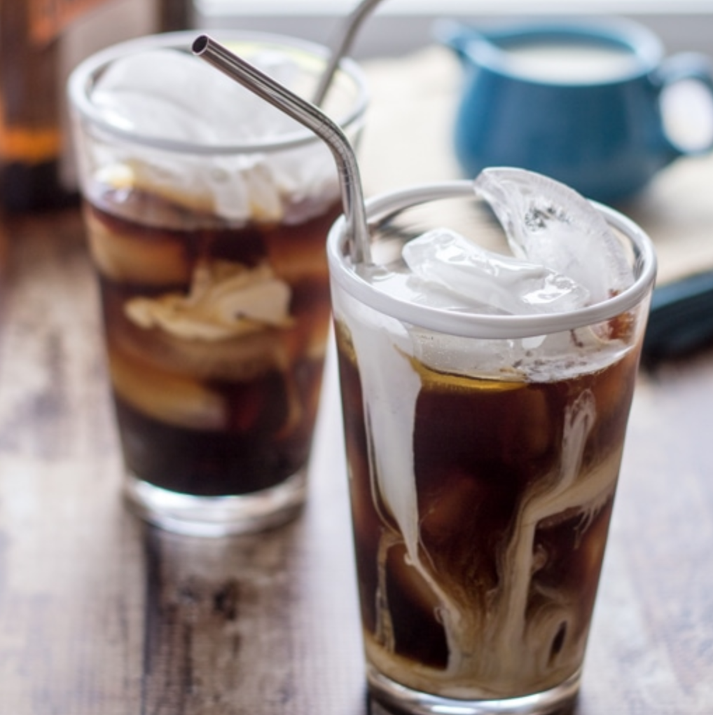 Boozy Iced Coffee for virtual happy hour