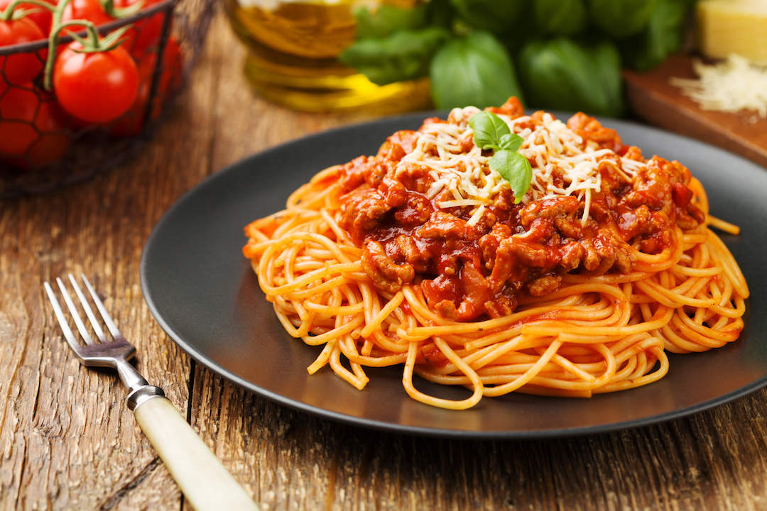 Spaghetti sauce in the Red Branch quarantine cookbook