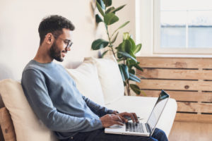Red Branch employee working from home and creating a talent engagement strategy